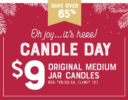 $9 Original Medium Jar Candles from Yankee Candle