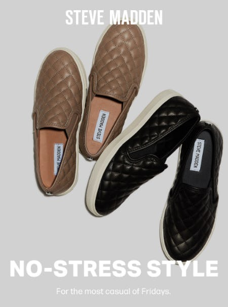 No-Stress Style from Steve Madden
