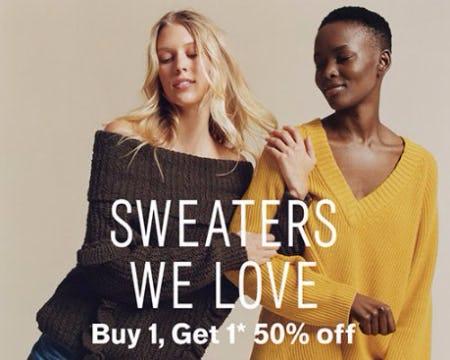 Buy 1, Get 1 50% Off Sweaters