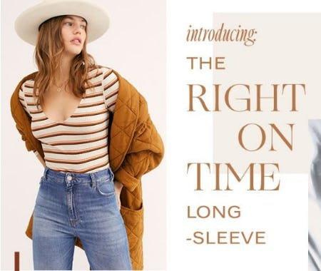 Introducing the Right on Time Long Sleeve
