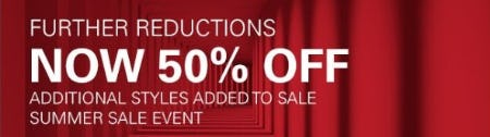 Further Reductions now 50% Off