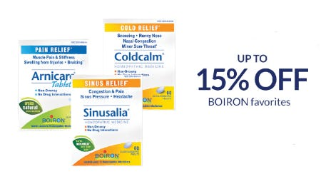 Up to 15% Off Boiron Favorites from The Vitamin Shoppe