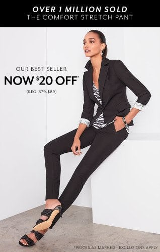 Our Best-Selling Pant Now $20 Off