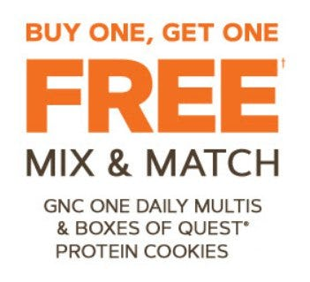 Buy One, Get One Free from GNC