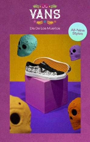Just In: Vans Dia De Los Muertos from PacSun