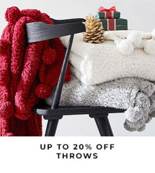Up to 20% Off Throws from Pottery Barn