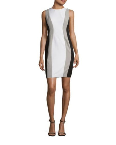 Calvin Klein Petite Colorblock Bodycon Dress from Lord & Taylor
