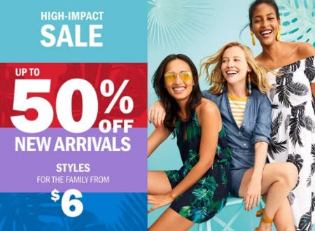 Up to 50% Off New Arrivals from Old Navy