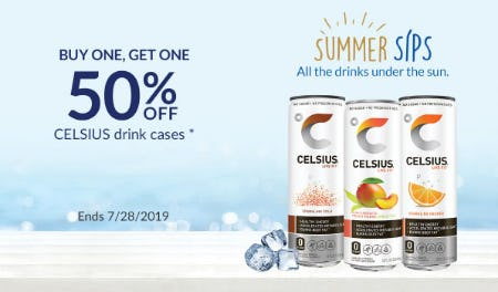BOGO 50% Off Celsius Drink Cases from The Vitamin Shoppe