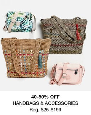 40-50% Off Handbags & Accessories