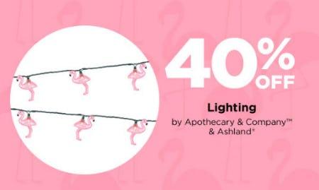 40% Off Lighting