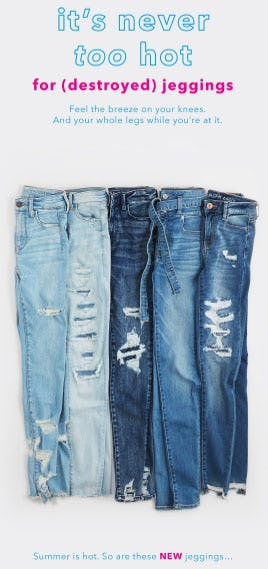 New Destroyed Jeggings from American Eagle Outfitters