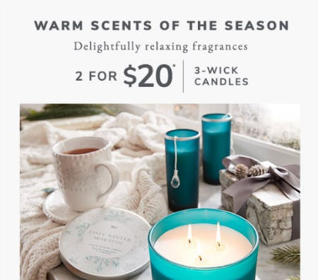 2 for $20 3-Wick Candles from Pier 1 Imports