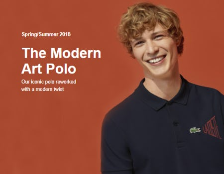 Meet the Modern Art Polo from Lacoste