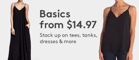 Basics From $14.97 from Nordstrom Rack