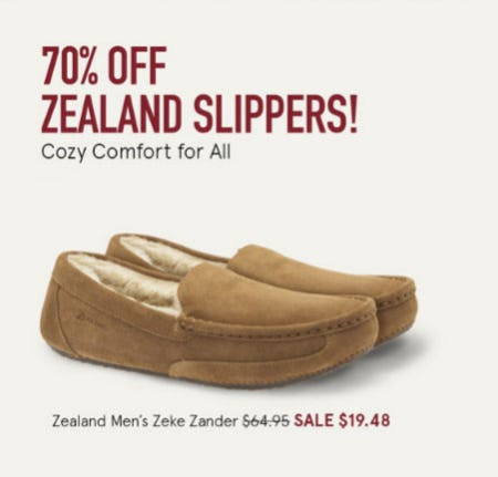 70% Off Zealand Slippers from The Walking Company