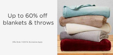 Up to 60% Off Blankets & Throws from Sears