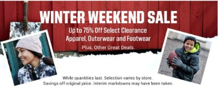 Up to 75% Off Select Clearance Apparel, Outerwear and Footwear