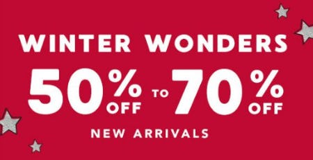 50% to 70% Off New Arrivals
