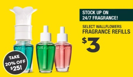 $3 Select Wallflowers Fragrance Refills