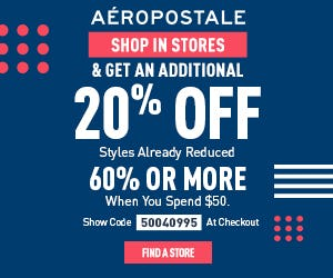 Additional 20% Off In Stores from Aéropostale