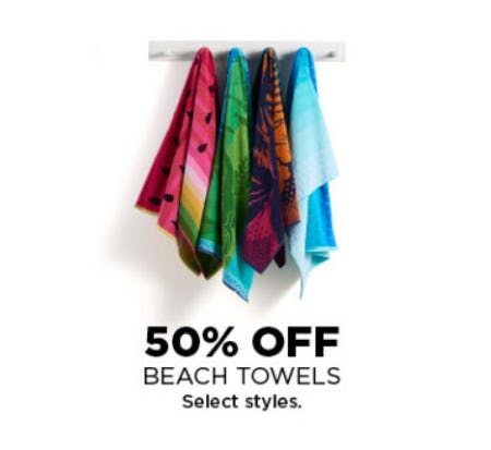 50% Off Beach Towels from Kohl's