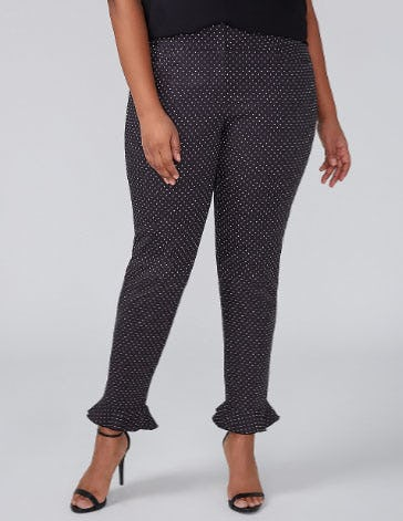 Allie Modern Stretch Ankle Pant - Ruffle from Lane Bryant