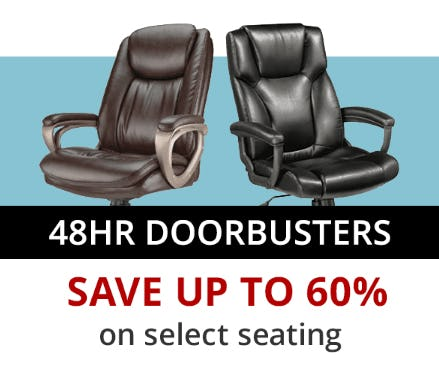 Save Up to 60% on Select Seating from Office Depot