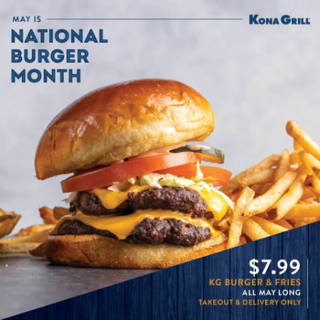 Burger Month at Kona Grill