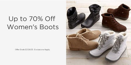 Up to 70% Off Women's Boots from Sears