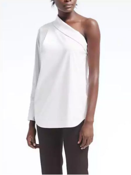 Easy Care One-Shoulder Top