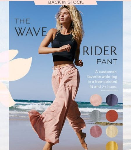 Back in Stock: The Wave Rider Pant from Free People