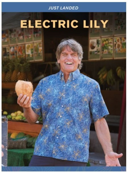 An Electrifying New Print: Electric Lilly from Reyn Spooner