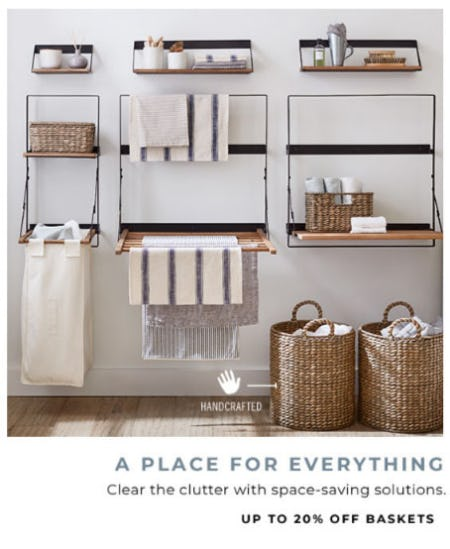 Up to 20% Off Baskets