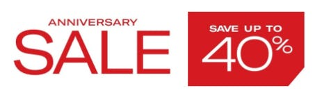 Anniversary Sale: Up to 40% Off