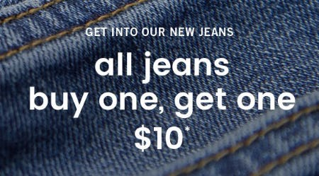 All Jeans Buy One, Get One $10