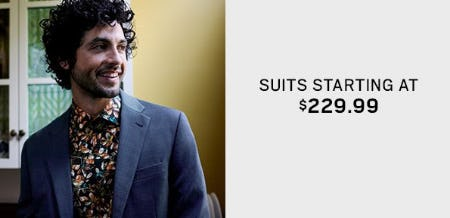 Suits Starting at $229.99 from Men's Wearhouse