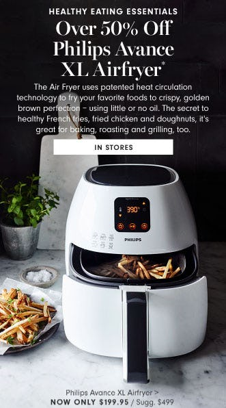 Over 50% Off Philips Avance XL Airfryer from Williams-Sonoma