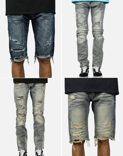 Distressed Knee Details from DTLR