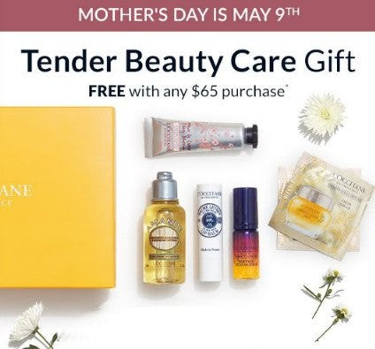 Tender Beauty Care Gift Free With Any $65 Purchase from L'Occitane