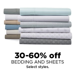 30-60% Off Bedding and Sheets