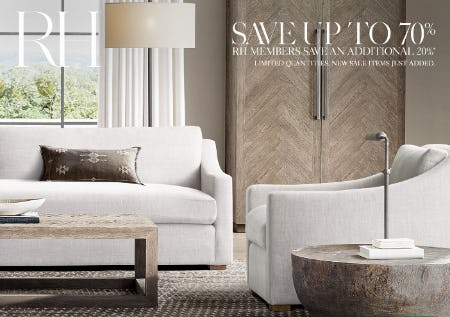 Up to 70% Off New Sale Items from Restoration Hardware
