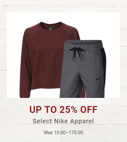 c4d575f26f5e Up to 25% Off Select Nike Apparel at Dick's Sporting Goods ...