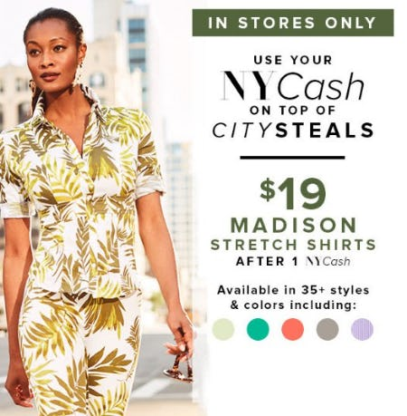 $19 Madison Stretch Shirts from New York & Company