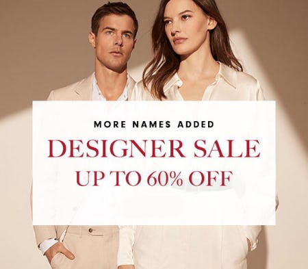 Designer Sale Up To 60% Off