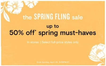 Up to 50% Off Spring Must-Haves from Loft
