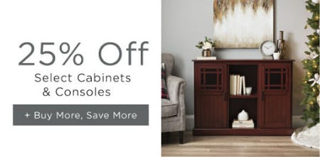 25% Off Select Cabinets & Consoles from Kirkland's Home