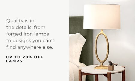 Up to 20% Off Lamps