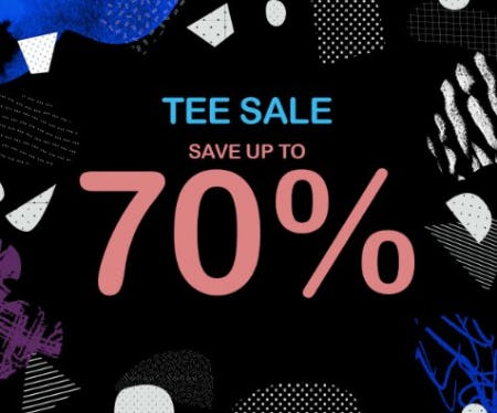 Tee Sale: Save up to 70%