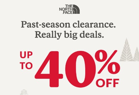 Up to 40% Off on Past-Season Clearance from REI